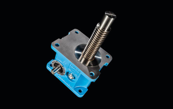 HSGK screw jack<br>Design with cooling fins<br>Static load capacity 25 – 1,000 kN